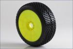 1:8 Buggy I-BEAM Soft EVO Wheel Pre-Moun Kyosho 14001SRY