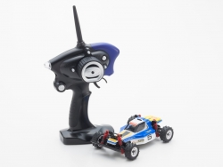 Mini-Z MB010S 4WD 1/24 OPTIMA  BLAU/WEISS - READYSET Kyosho 32082BW