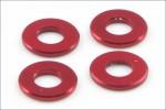 Scheiben Alu, 3x6.5x0.75mm, rot (4) Kyosho 97042-075R