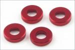 Scheiben Alu, 3x6.5x1.5mm, rot (4) Kyosho 97042-15R