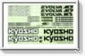 Dekorbogen Evolva M3 Kyosho FMD-551