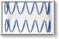Federsatz Stossdaempfer,7-1,6,L70 blau Kyosho IF-350-716