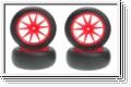 Reifensatz Slick, orange (4) Kyosho IHTH-04KO