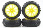 Reifensatz High-Traction, gelb (4) Kyosho IHTH-06Y