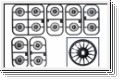 Felgenset 1:24, grau, 8,5/11mm (4) Kyosho MDH-100G