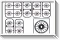 Felgenset 1:24, silber, 8,5/11mm (4) Kyosho MDH-100MS