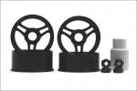 Felge 1:24,3-Speichen,schwarz 8,5/9,5mm Kyosho MZH-06