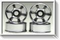 Felge 1:24,6-Speichen,chrom 8,5mm (4) Kyosho MZH-150-CM