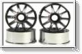 Felge 1:24,10-Speichen,chrom 8,5mm (4) Kyosho MZH-151-CM