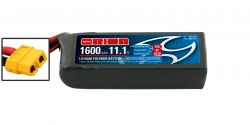 RACING DRONE LIPO 3S-1600-11.1V-75C (L75.xW36xH26/130g) XT60 Kyosho ORI60239