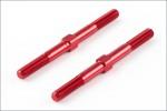 Spurstangen 3x40mm, rot, hart (2) Kyosho TFW-111