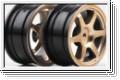 Felge 6-Speichen, gold, 24mm (2) Kyosho VZH-07GL