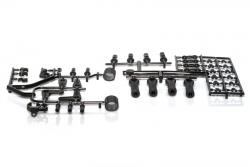 Kugelkopf- + Anlenkungs-Plastikteile S8 LRP 132004