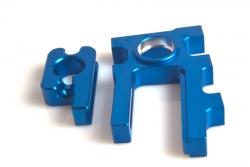 Alu Motorhalter (blau)  Rebel Bxe LRP 133192