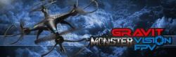 Gravit Monster Vision FPV 2.4GHz Quadrocopter mit WiFi-Action-Cam LRP 220714