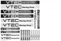 Aufkleberbogen VTEC Racing Tires LRP 62414
