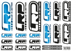 Aufkleberbogen LRP Logo DIN A4 3 LRP 62421