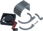 Radical Motor Heatsink + Fan, Gunmetal LRP 82521