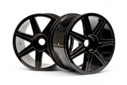 7-Speichen Truggy Felgen (schwarz-chrom) hpi racing H101156
