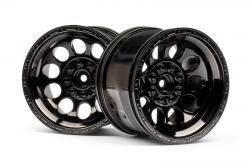 Felgen schwarz-chrom (Paar/Bullet ST) hpi racing H101252