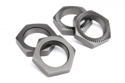 Radmutter 24mm (gunmetal/4St) hpi racing H102216