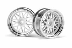 HRE C90 Felge 26mm chrom/weiss (6mm/2St) hpi racing H106773