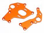 Motorhalter Set (l, r/orange/Sprint 2) hpi racing H106838
