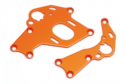 Motorhalter Set (l, r/orange/Sprint 2) hpi racing H106838