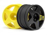 Fifteen 52 Felgen Set (3xgelb, 1xgunm.) hpi racing H109745