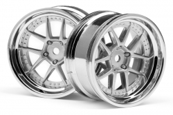Dy-Champ. Felge 26mm ch.-silber(6mm/2St) hpi racing H111276