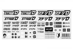 HPI Stage-D Aufkleber (schwarz-weiss) hpi racing H113585