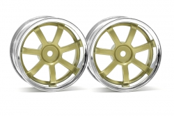 RG Lights 57S-Pro Felge chr./gold (3mm) hpi racing H3319