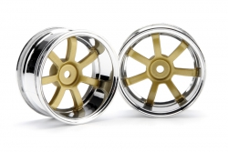 RG Lights 57S-Pro Felge chr./gold (9mm) hpi racing H3321