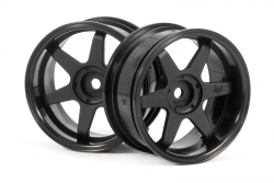 TE37 Felge 26mm (schwarz/6mm Offset) hpi racing H3846