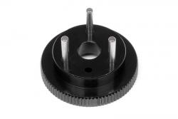 Schwungscheibe (3 Pins/hart-schwarz/D8) hpi racing H67525
