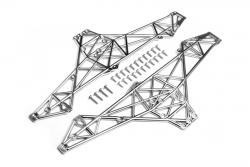 Chassis Set (matt chrom/Wheely King) hpi racing H85254