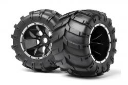 Reifen auf Felgen (2St/Blackout MT) LRP MV24107