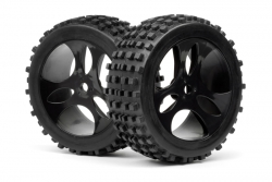 Reifen auf Felgen (montiert/2St/VaderXB) LRP MV27084
