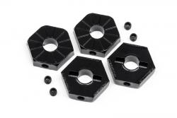 Radmitnehmer 17mm (schwarz/4St/Wolf) LRP MV29070