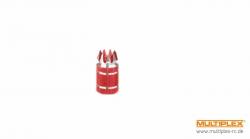 Knüppelgriffe Alu rot für AURORA 9 Hitec 110680