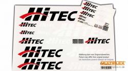 Aufkleberset HiTEC-Logo schwarz/weiß/rot 100x35cm Hitec 119990