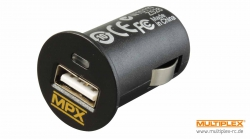 USB Steckerladegerät 12V DC f.Kfz Multiplex 145533