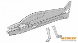 Rumpf und Fahrwerksverkleidun Multiplex 224132
