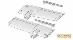 Tragflächen-Formteile TwinStar II Multiplex 224172