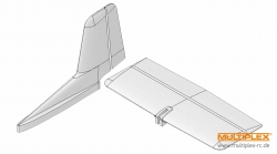 Leitwerks-Formteile TwinStar II Multiplex 224173