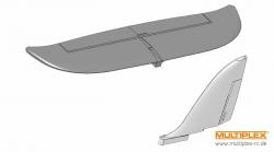 Leitwerke easyStar silber/wei Multiplex 224199