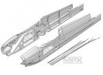 Rumpfhälften+Bowdenzüge AcroMaster Multiplex 224200