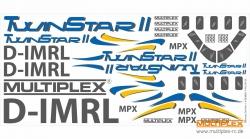 Dekorbogen TwinStar II Multiplex 724275