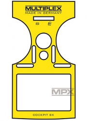 Aufkleber COCKPIT SX 7/9 gelb Multiplex 724404