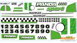 Dekorbogen Panda Sport grün Multiplex 724649